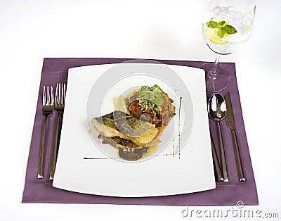 Cod with mushrooms