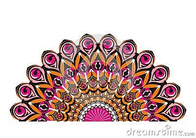 Coda del pavone decorativo