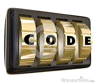 Code Word Lock Dials Secret Classified Informatoin Password Acce