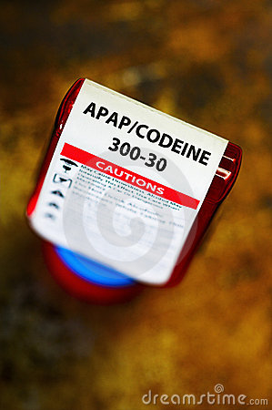 Codeine presctiption bottle