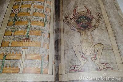 Codex gigas also called Devil s bible Editorial Photography