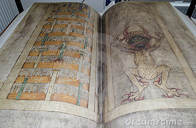 Codex gigas also called Devil s bible Editorial Photo