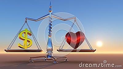 Coeur contre l argent