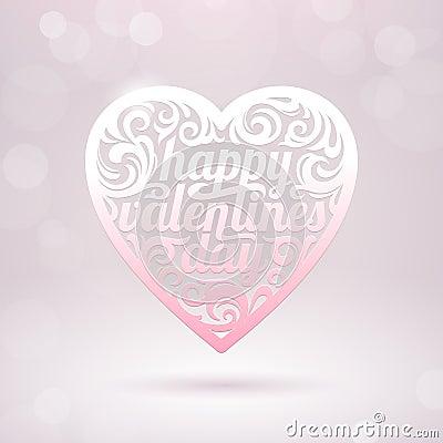 Coeur de Valentines avec des vacances saluant