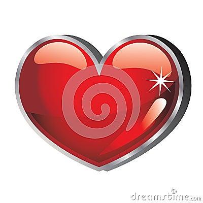 Coeur de vecteur lustré