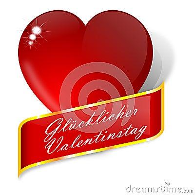 Coeur rouge avec des souhaits pour la saint valentin allemand images libres de droits image - Coeur pour la saint valentin ...