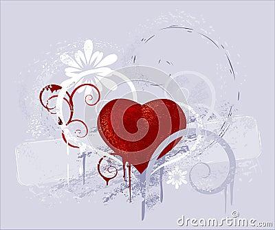 coeur rouge sur un fond gris photographie stock libre de droits image 7337427. Black Bedroom Furniture Sets. Home Design Ideas