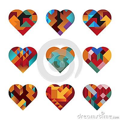 Coeurs de puzzle