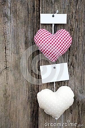 Coeurs de tissu