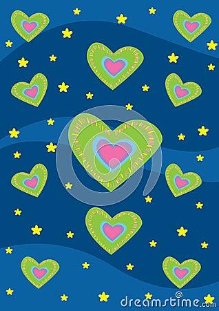 Coeurs et texture de fond de stras