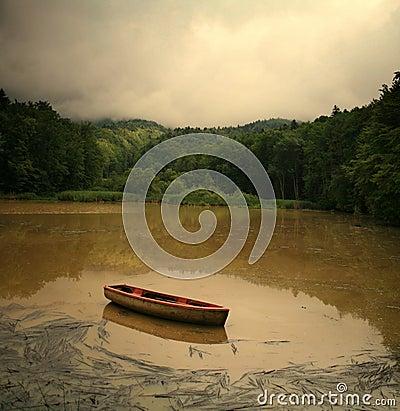Cofee Lake and Boat