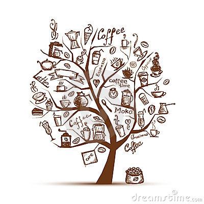 Free Cofee Time. Art Tree For Your Design Royalty Free Stock Images - 20886559