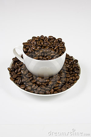 Coffe cup of beans