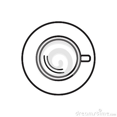 Free Coffe Cup Top View Stock Image - 126204401
