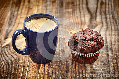 Coffe and muffin breakfast