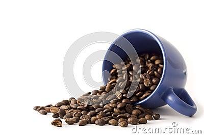 Coffe mug with beans