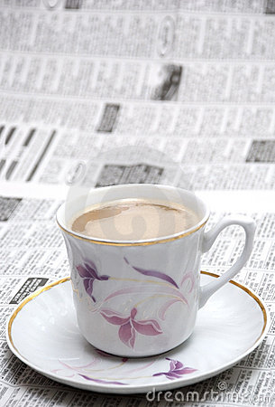 Coffe and newspaper