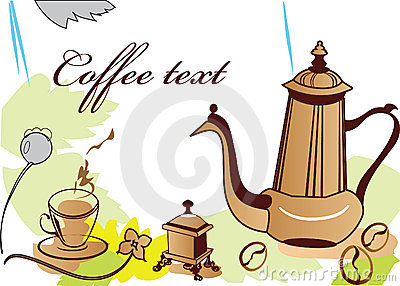Coffe-pot and coffe-cup