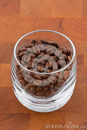 Coffea beans in glass