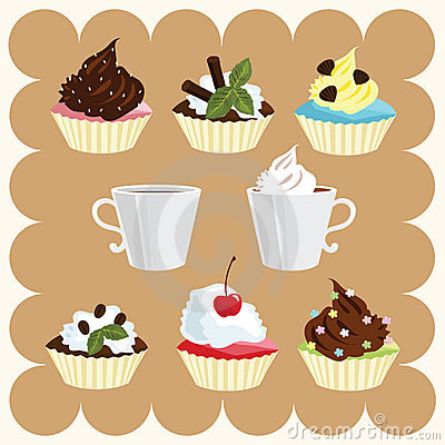 Free Coffee And Cakes Stock Photos - 8659983
