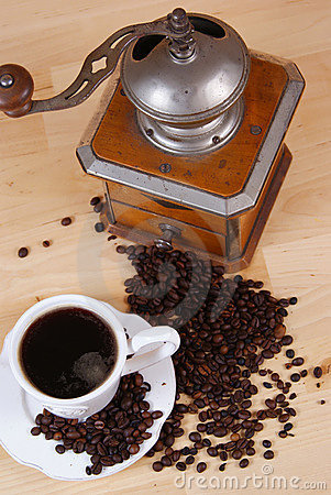 Free Coffee And Coffee Grinder Stock Photo - 18584630