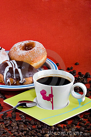 Free Coffee And Donuts Stock Photography - 2449732