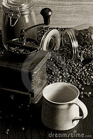 Free Coffee And Grinder Stock Photo - 24232760