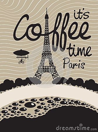 Free Coffee And Paris Royalty Free Stock Images - 33570809