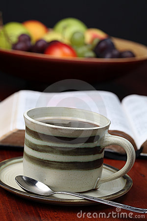 Free Coffee And The Bible Stock Photo - 16165800