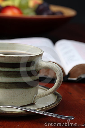 Free Coffee And The Bible Stock Photo - 16362750