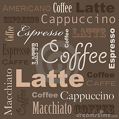 Letter A In Different Styles Coffee Art Stock Image...