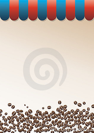 Coffee background with striped peak