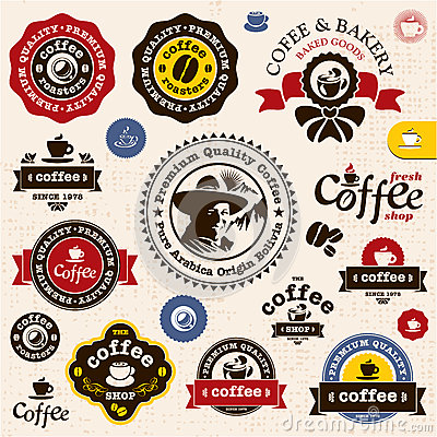 Free Coffee Badges And Labels Stock Photo - 25964520