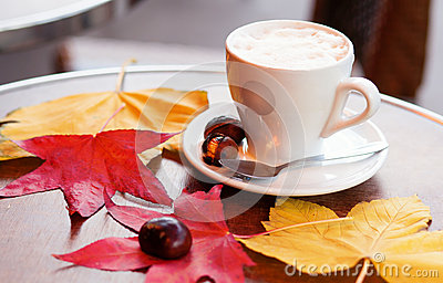 Coffee and baked chestnuts