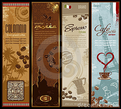 Free Coffee Banners Royalty Free Stock Photo - 12992515