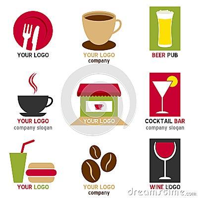Coffee and Bar Logos Set
