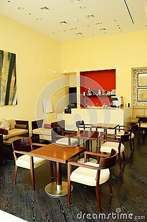 Coffee bar in luxury hotel