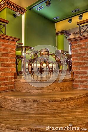 Coffee Bar And Pub Interior