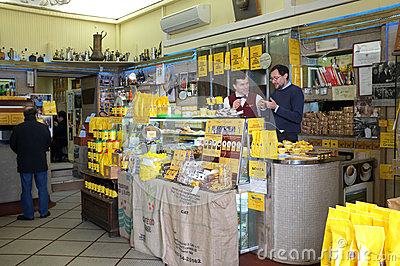 Coffee bar in Rome Editorial Stock Photo