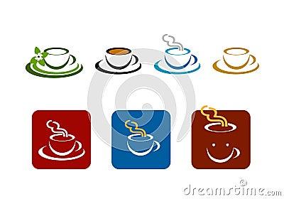 Coffee bar shop vector brands logo