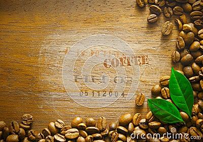 Coffee bean background border