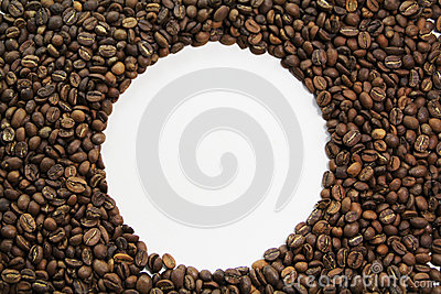 Coffee bean circle