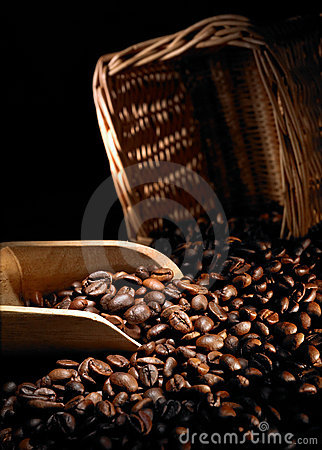 Free Coffee Beans And Scoop Stock Photography - 11165962