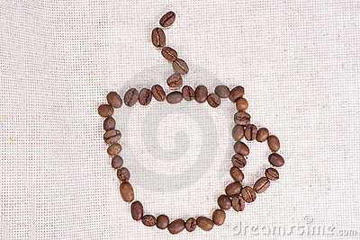 Coffee beans as cup