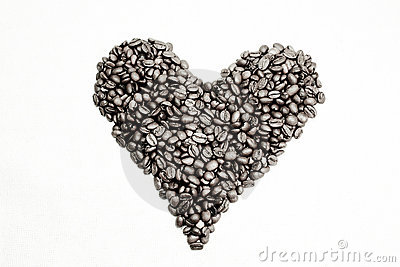 Coffee beans as heart