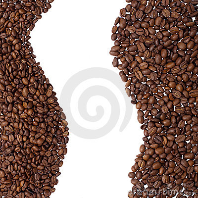 Coffee beans border