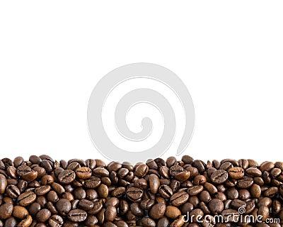 Coffee beans border 2
