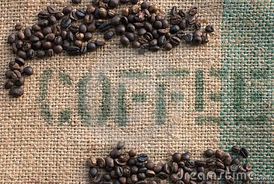 Coffee Beans on a Burlap Sack II