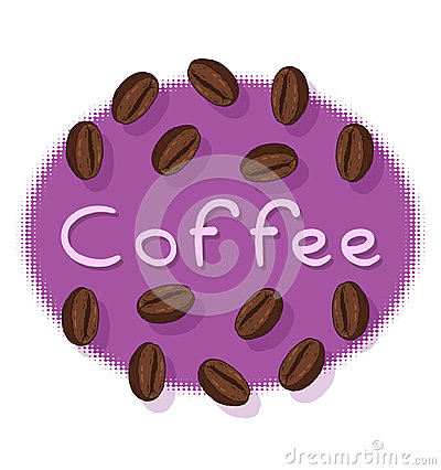 Coffee Beans and Coffee Text