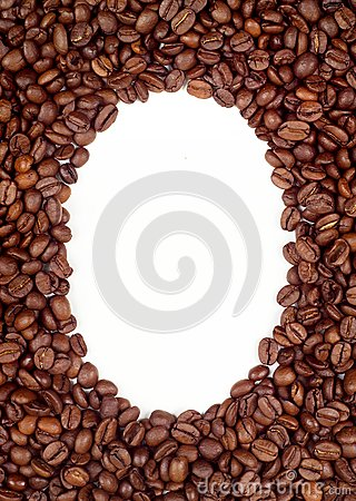 Coffee beans frame (background)